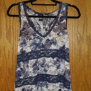 All Lace Racer Back Tank,,Lg
